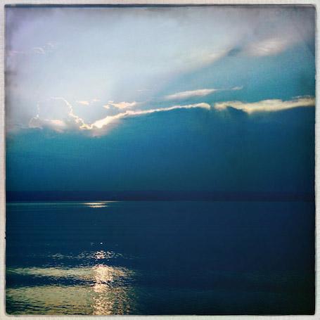 Wolkenstimmung am See