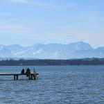 Blick von Buchscharn aus Richtung Alpen