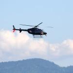 Heute habe ich die ersten Vorboten des G7-Wahnsinns in Elmau erlebt, eine Helikopterstaffel auf ihrem Weg nach München