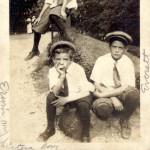 Erwin W. Raible als Kind mit seinen Cousins. Später war er im 2. Weltkrieg in Deutschland stationiert