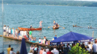 Fischerstechen 2016 im Biergarten Lidl, Seepromenade 10 in Seeshaupt. Am 23. Juli 2016 ab 12:00 Uhr Einlass, das traditionelle Fischerstechen beginnt ab 14:00 Uhr