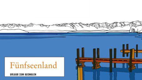 Mal Regional - Das Fünfseenland-Malbuch aus dem Gmeiner Verlag